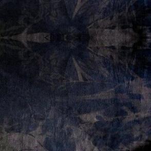 Tie Dye shibori abstract boho night gray black navy blue