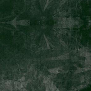 Tie Dye shibori abstract boho night emerald forest green