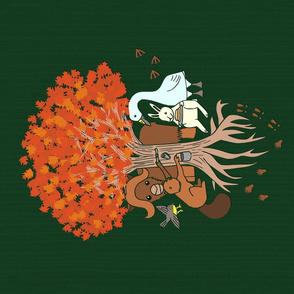 Canadian Forest Friends T-shirt Panel