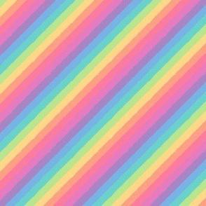 distressed pastel rainbow tipsy - teeny tiny