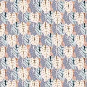 Seamless pastel color autumn leaves
