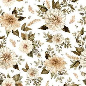 """8"""" SEPIA VERSION - Savanna Gardens Sepia White"""