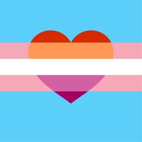 Trans with Lesbian heart mask