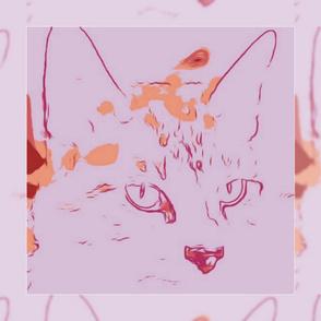 "Pastel Siamese Scarf 36"""