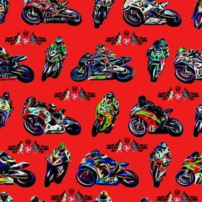 Moto GP Motorbikes Rev 2 Red