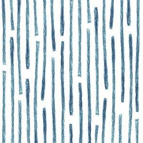 crayon vertical stripes in navy