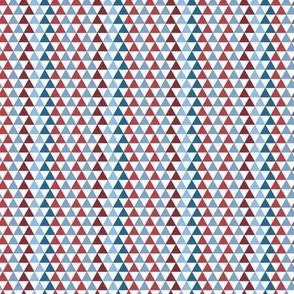 Triangle Kaleidoscope (1/2 scale) | Patriotic