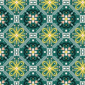 Teal Moroccan Tiles