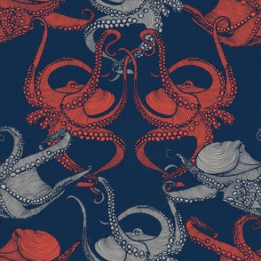 Cephalopod - Octopi XS small - Navy