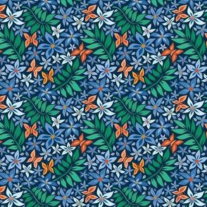 small paper cut spring blue light blue