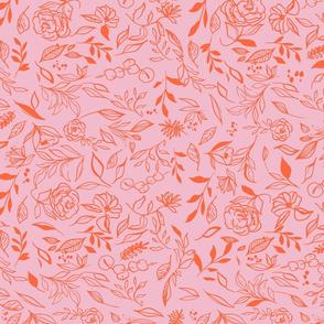 Spring mix florals - pink