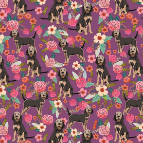 otterhound floral fabric - purple