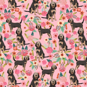 otterhound floral fabric - pink