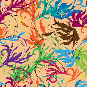 Сolorful abstract oriental pattern.