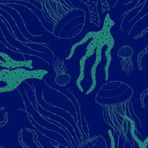 Unterwasser blau