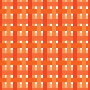 Orange Summer Bright Plaid