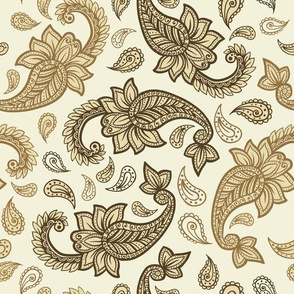 Paisley golden yellow
