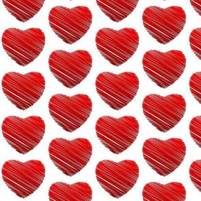 red heart scribble