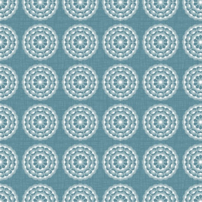 set dandelions blue