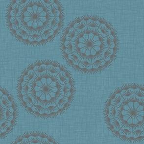 Dandelion XL blue&charcoal