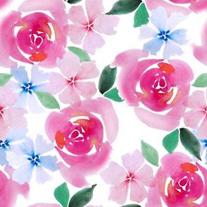 watercolor floral multi