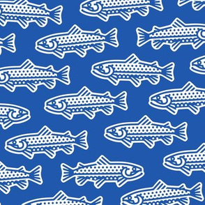 Thick Line Trout [Bright Blue]