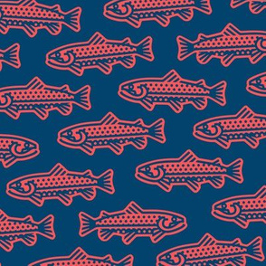 Thick Line Trout [Red+Blue]