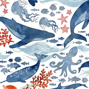 Ocean life - extra large scale