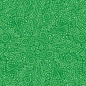 batik doodles in spearmint green