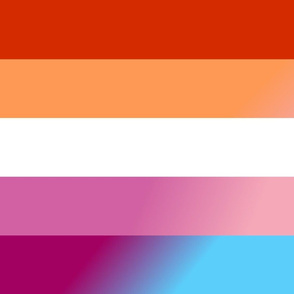 Trans Lesbian custom flag (diagonal)