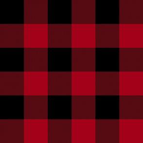 "Rob Roy MacGregor Tartan / Buffalo Plaid, 3""  crimson red"