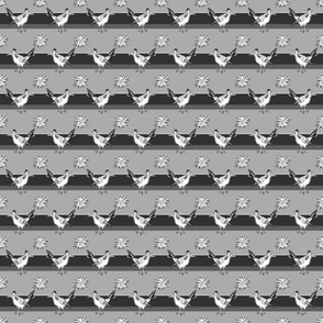 Roadrunner on gray stripes small