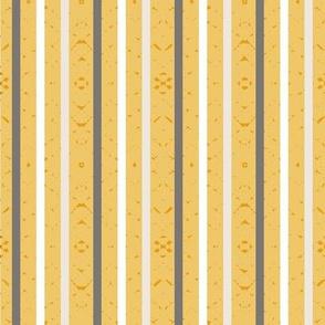 white stripes on yellow, small