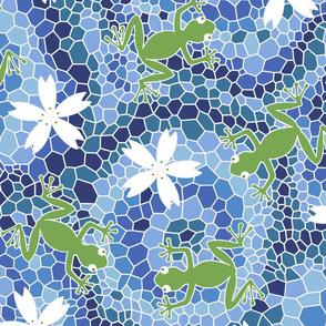 midsommer frogs+flowers D cleaner lines spoonfloer zb 6300pixels offset i cyanA jjjjjjjjjjjjjjjJjJ eq3whiteX
