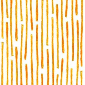 crayon vertical stripes in solar orange