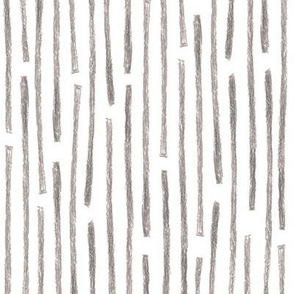 crayon vertical stripes in grey