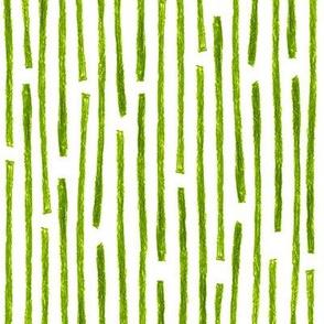 crayon vertical stripes in leaf green