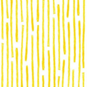 crayon vertical stripes in yellow