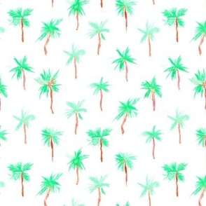 Palm d'Azur - watercolor palms for beach and summer p300