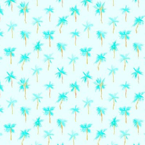 Palm d'Azur - small scale - watercolor palms for beach and summer p300