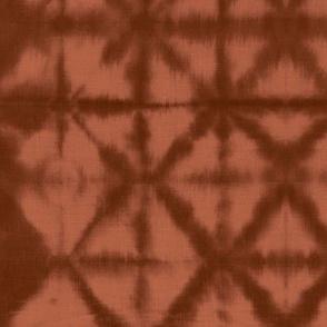 Soft tie dye boho texture summer shibori traditional Japanese neutral cotton print sienna rust stone red