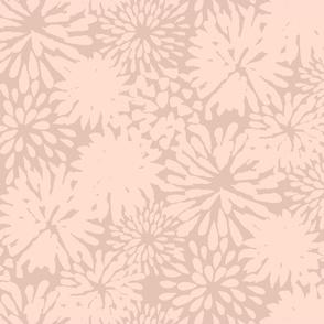 Shell Pink Zinnias