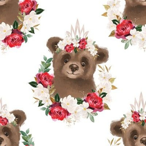 red rose magnolia brown bear - 5 inch