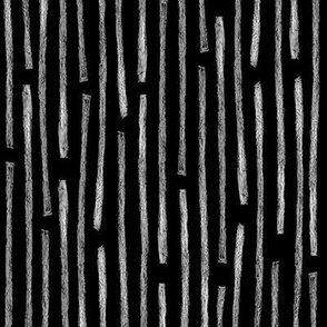 batik vertical stripes - white on black