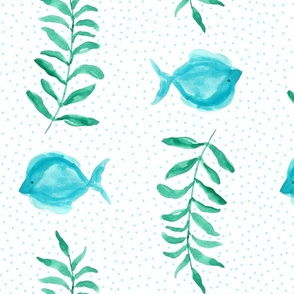 Fish and sea plant