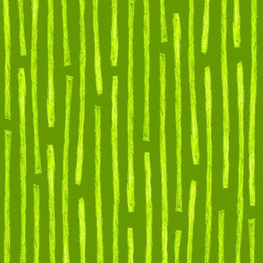 batik vertical stripes in bright lime green