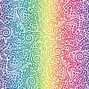 rainbow batik doodles