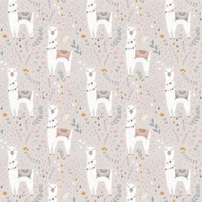 Llamas on Gray