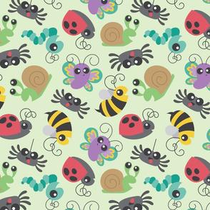 Snail Ladybug Bee Spider Bugs