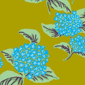 Hydrangeas Blue Chartruce